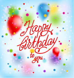 happy birthday background and balloons vector image