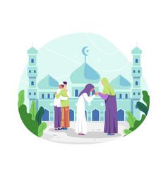 Happy eid al-fitr vector