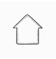 House sketch icon vector image