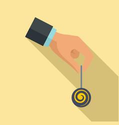 Hypnosis pendulum icon flat style vector