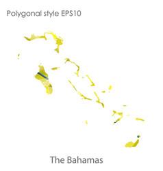 Isolated icon bahamas map polygonal geometric vector