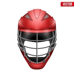 Lacrosse Helmet Front View vector