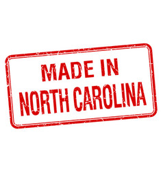 Made in north carolina red square isolated stamp vector