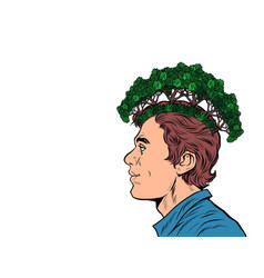 male ecologist ecology in thoughts concept parks vector image