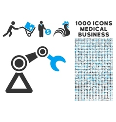 Manipulator Icon with 1000 Medical Business vector image