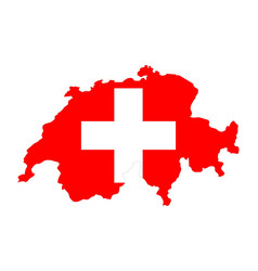 map of the swiss vector image