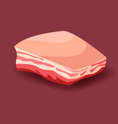 meat - lard fresh meat icon vector image