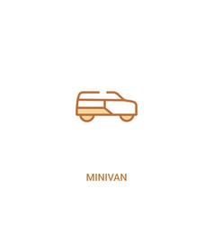 Minivan concept 2 colored icon simple line vector