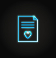 neon wish list concept icon in line style vector image