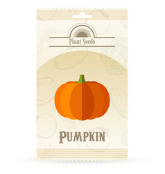 Pack pumpkin seeds vector