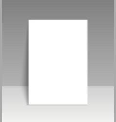 paper mockup leaflet blank template vector image