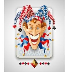 Picture jolly joker vector