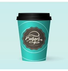 Premium quality realistic paper coffee cup vector image vector image