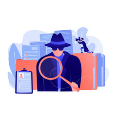 Private investigation concept vector