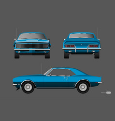 retro car of 1960s american vintage automobile vector image
