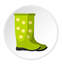 rubber boots icon circle vector image