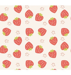 Seamless pattern with hand drawn strawberry fruit vector