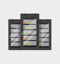 server room networking web database computer vector image