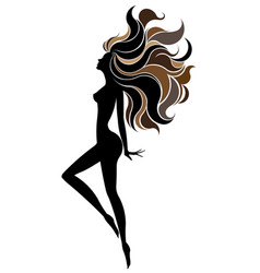 Shape of beautiful woman icon cosmetic and spa vector