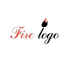 sign fire and the inscription vector image