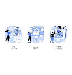Social media marketing strategy abstract concept vector