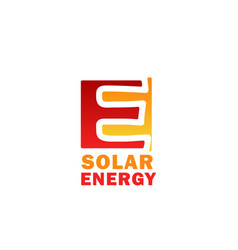 solar energy icon for sun power technology design vector image
