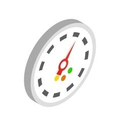 Speedometer icon isometric 3d style vector