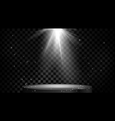stage spot lighting empty podium isolated on vector image