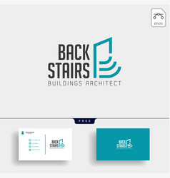 Stairs architectur logo template icon element vector