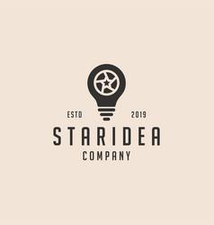Star idea logo icon vector