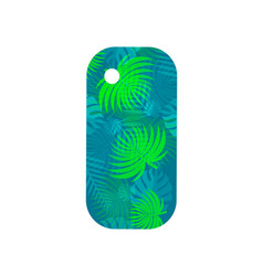 stylish case for smartphone with tropical pattern vector image