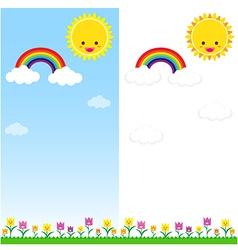 Sun Rainbow and Cloud 001 vector