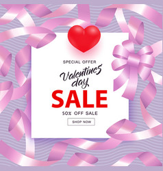 valentines day sale and vector image