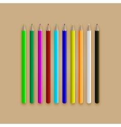 Varicolored long pencil set vector image