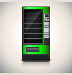 Vending Machine with shelves green coloor vector