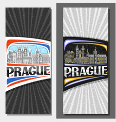 vertical layouts for prague vector image