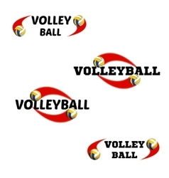 Volleyball logo for the team and the cup vector image vector image