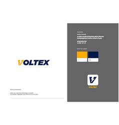 Voltex logo template design vector