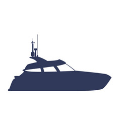 yacht luxury boat vector image