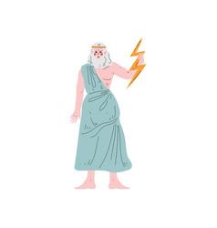 Zeus supreme olympian greek god ancient greece vector