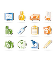 amedical and healthcare icons vector image vector image