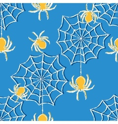 Halloween seamless pattern with spiders vector image vector image