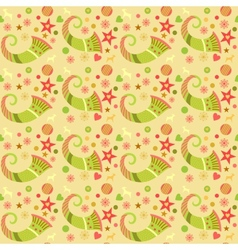 Seamless pattern christmas wrapping paper for vector image