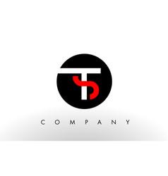 ts logo letter design vector image vector image
