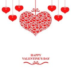 valentine label vector image vector image
