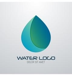 Water drop abstract logo design template vector image