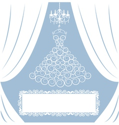 Wedding card with curly dress vector image vector image