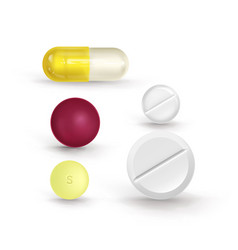 a set of multi-colored tablets of different shapes vector image vector image