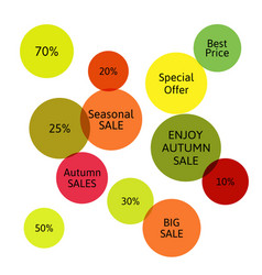 big autumn sale badge label special offer vector image vector image