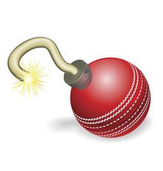 cricket ball bomb concept vector image vector image